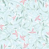 Floral abstract pattern, vector