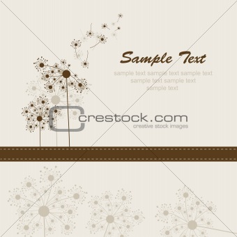 Abstract dandelion background, vector