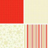 Scrapbook christmas patterns for design, vector