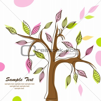 Àbstract tree background, vector