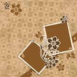 Template scrap card, vector