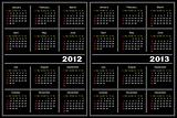 Black calendar template.