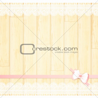 lace frame with bow