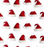 seamless Santa hat background