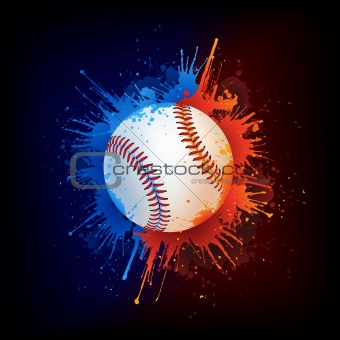 Baseball_Fire_Water_Paint_Vector
