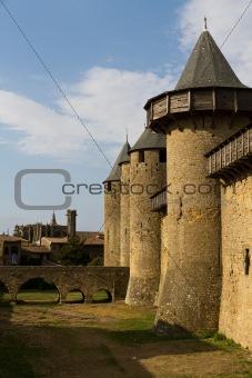 Carcassonne, France, UNESCO. Castle