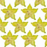 Carambola slices,close up