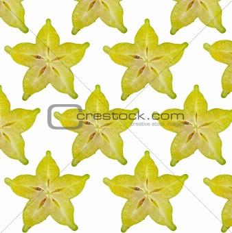 Carambola slices,close up