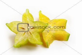 Carambola slice,close up