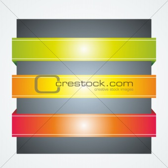 background with color ribbons or banners