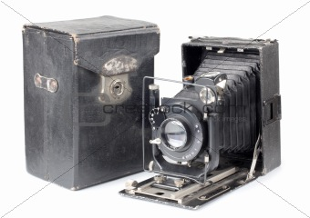 Old camera and cover