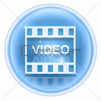 Film icon ice, isolated on white background.