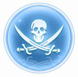 Pirate icon ice, isolated on white background.