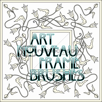 art_nouveau_frame_brushes