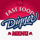 dinner hand lettering design (vector)