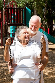 Senior Couple at Play
