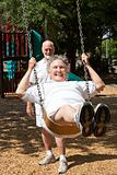 Senior Woman Reliving Childhood