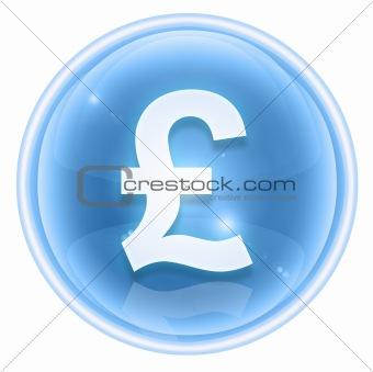 Pound icon ice, isolated on white background