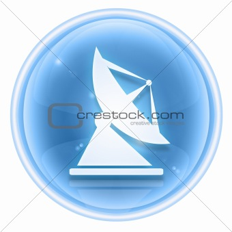 Antenna icon ice, isolated on white background