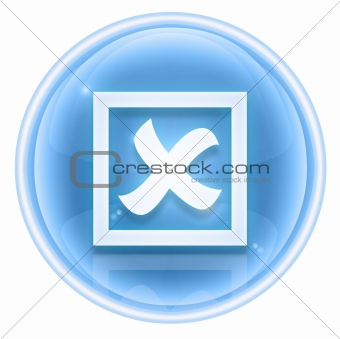 close icon ice, isolated on white background.