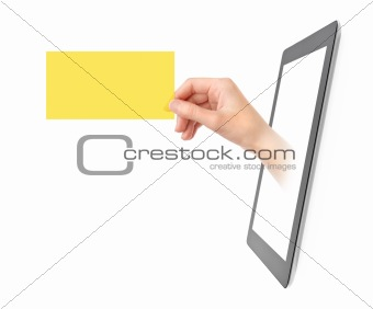 Showing Electronic Business Card