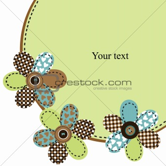 Background with cute flowers and place for text
