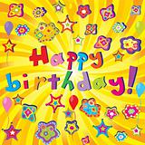 Banner with Happy Birthday and twirl