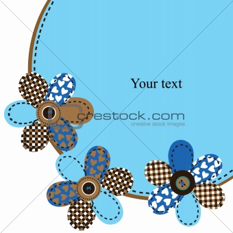 Card with textured flowers