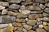 Wall of non-masonry rock