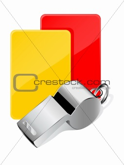 Cards and whistle, referee attributes