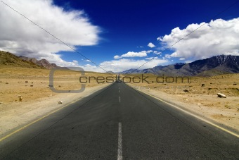 Straight Road In Leh Ladakh
