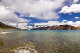 Different Colors of Pangong Lake in Ladakh