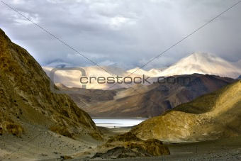 First View of the Beautiful Pangong Lake