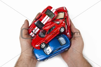 Cars in  hands