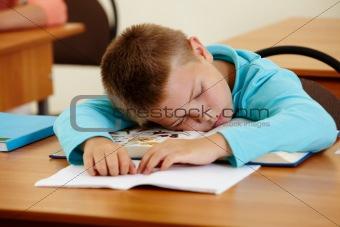 Sleeping at lesson