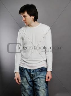 Man posing in the studio.