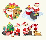 cute cartoon Christmas Holiday,santa,