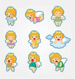 cartoon Angel icon set