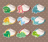 Cartoon dinosaur Stickers Label