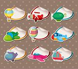 Cartoon airplane Stickers,Label