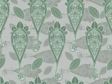vector seamless paisley in green