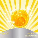 vector abstract background with yellow spiral in sphere
