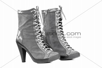 Pair of Grey Boots