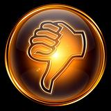 thumb down icon golden