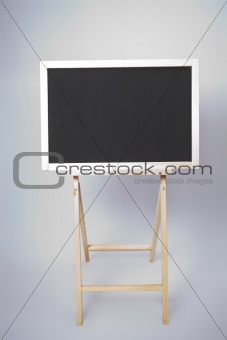 Blackboard. Isolated. Front view. Blank (clear)