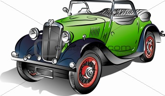 Drawing of the car