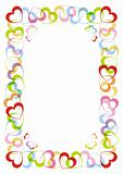 The frame with heart for Valentines day