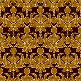 Seamless patterned wallpaper