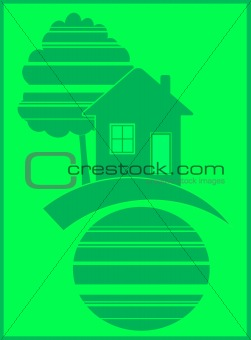 green symbol eco house