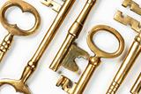 Golden Keys Abstract Background